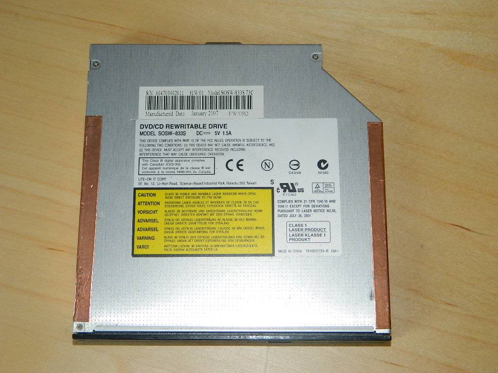 PB Easynote W3110 Graveur CD-DVD model : SOSW-833S
